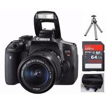 Camera Canon Eos Rebel T6i Dslr Ef-s 18-55mm + Brindes