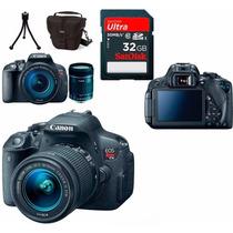 Câmera Canon Eos T5i+18-55+bolsa+tripé+32gb+parasol+kit Lp