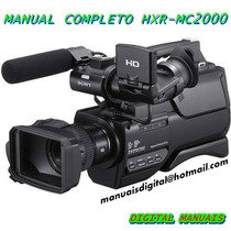 Manual Em Português Da Filmadora Sony Hxr-mc 2000.