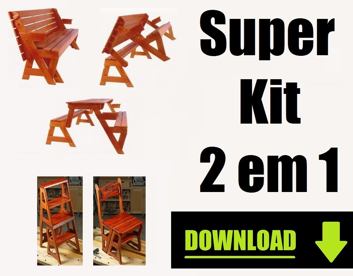 Projeto Kit Cadeira Vira Escada   Mesa Vira Banco Marcenaria R$ 9 50  #8FB714 1178x920