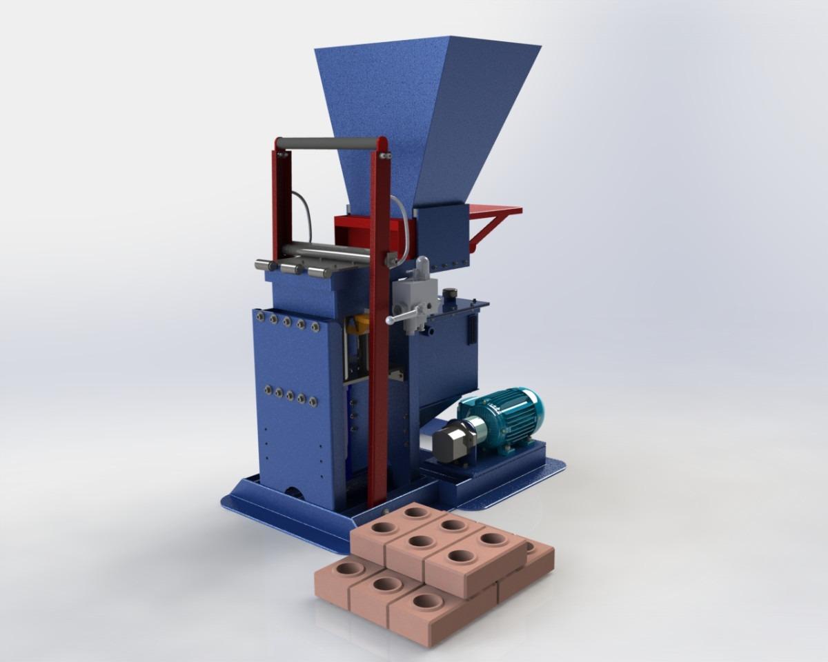 Projeto Máquina Tijolo Ecológico Hidraulica R$ 300 00 no  #41578A 1200 960