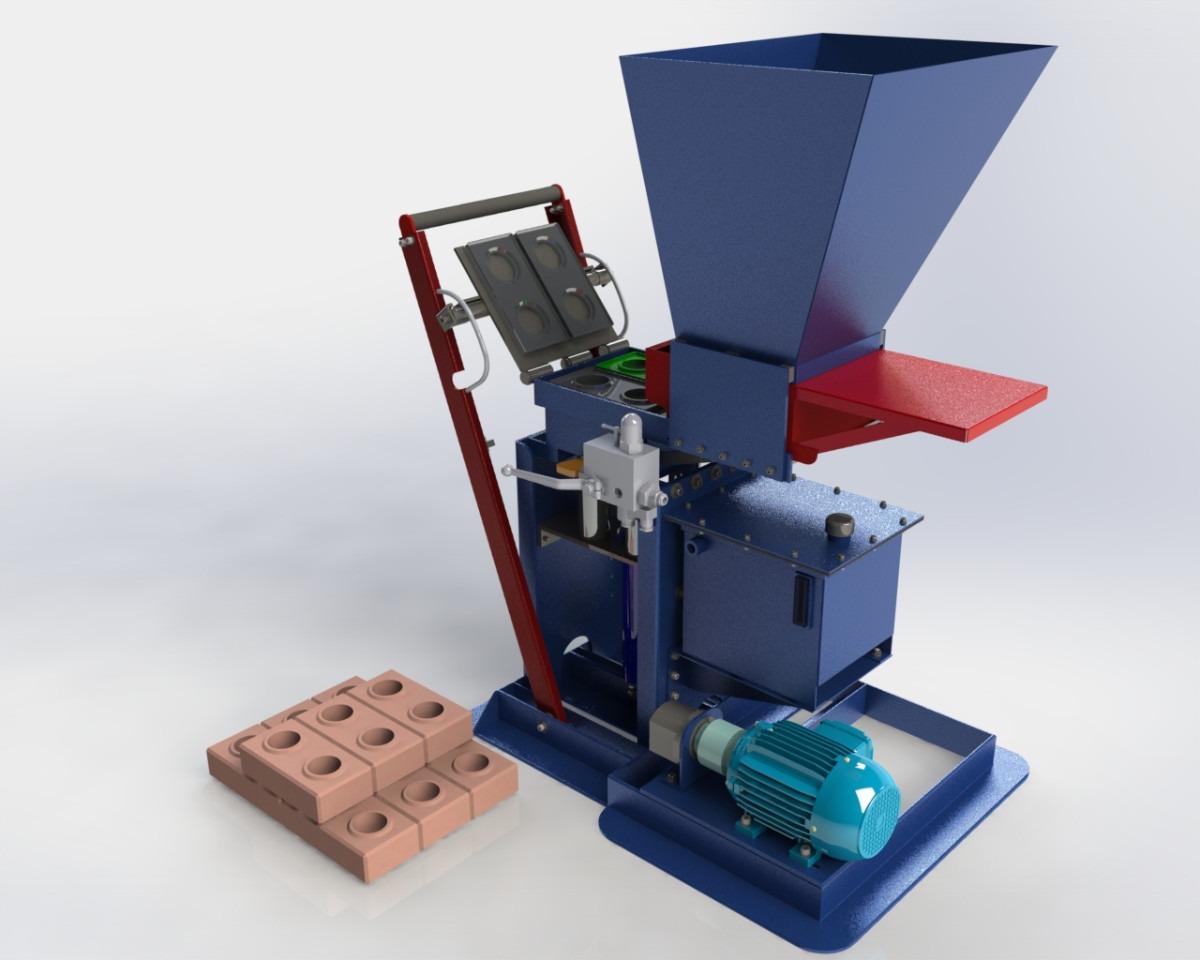 Projeto Máquina Tijolo Ecológico Hidraulica R$ 300 00 no  #30698B 1200 960