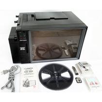 Projetor Antigo Chinon Ds-300 Super 8mm Sonoro C/ Tela Jaj