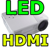 Mini Projetor Led Hd 1920x1080 80 Lumens Usb Sd Hdmi 120pol