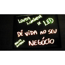 Quadro Painel De Neon Luminoso Lousa De Led 30 X 40 Cm