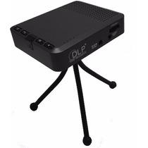 Mini Projetor Dlp Portátil C/ Bateria 3000mha 1000 Lumens
