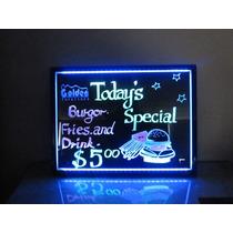 Painel Lousa Led Luminosa Neon Quadro Com Caneta Fluorescent