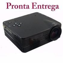 Mini Projetor Portatil Led Lcd 1920x1080 100pol Usb/hdmi H80