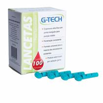 Lancetas Para Lancetador G-tech 28g Com 100 Unid.