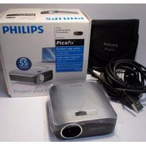 Kit Completo Philips Mini Projetor P Telão Filmes Jogos Novo