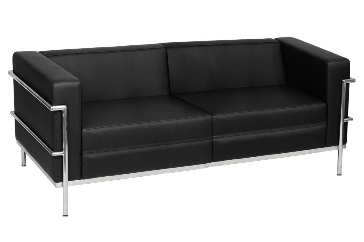 promo o sof le corbusier 3 lugares r no mercadolivre. Black Bedroom Furniture Sets. Home Design Ideas