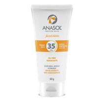 Anasol Protetor Solar Facial Fps35 Toque Seco 60g