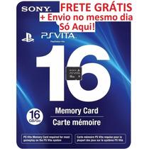 Artão De Memória 16 Gb Memory Card Psvita - Frete Grátis!