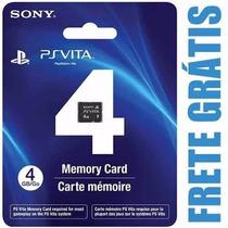 Cartão Memória 4 Gb Ps Vita Original Psvita + Frete Grátis
