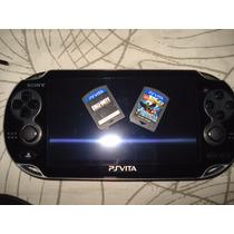 Ps Vita Sony Com 2 Jogos ,carregador,cartão De 4bg.