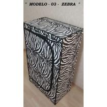 Sapateira De Madeira Personalizadas Grande - Zebra -