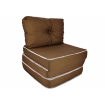Puff Ou Sofá Ou Colchão - 3 X 1 Com Travesseiro