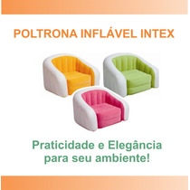Poltrona Decorativo Inflavel Intex Puff Sofas Almofada Sala