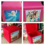 Puff Baú Infantil Para Guardar Brinquedos Caixa Organizadora