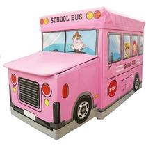 Puff Bau Infantil Para Guardar Brinquedos Rosa