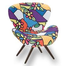 Poltrona / Cadeira Decorativa Romero Britto - Frete Gratis