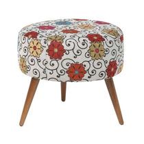 Puff Sofia Decorativa Pés Palito Cadeira Sofá Sala Quarto
