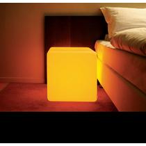 Puff Iluminado 35 - Cubo Led Rgb - Luminaria Led - Puff