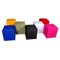 Puffs Quadrados Decorativo Pufi Puff Puf Pufes 04 Unidades