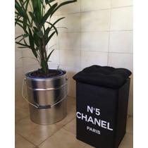 Banco Aparador Puff Chanel Com Almofada!!