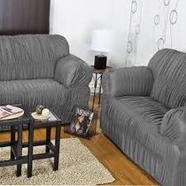 Capa Para Sofa 2 E 3 Lugares 21 Elásticos Malha Gel