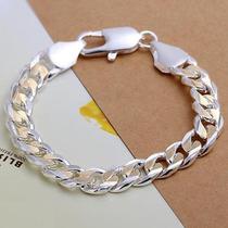 Pulseira Em Prata 28,7gramas Com Detalhes Em Ouro - J1316
