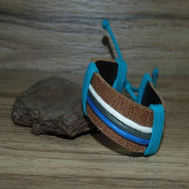 Pulseira De Couro Masculina Tribal Surf Hemp