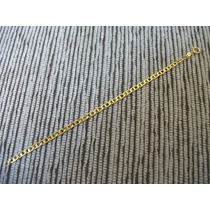 Pulseira Italiana Folheada Ouro 18k 4mm 19cm 4 Gramas Garant