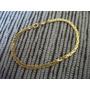 Pulseira Trançada Folheada Ouro 18k 3mm 18cm 2.5 Gramas