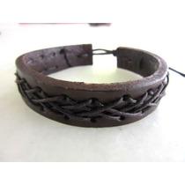 Pulseira Bracelete De Couro Vários Modelos Frete Gratis