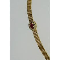 Pulseira Oval Com Zirconia Colorida Com 2 Camada De Ouro 18k