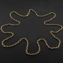 Corrente Elos Cartier Em Ouro Maciço Amarelo 12xsem Juros