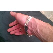 Pulseira Prata 3in1 Grossa 1,5cm, Fecho Gaveta 925, Banhada.