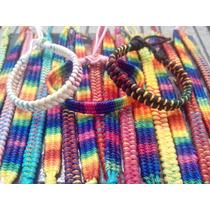 Kit Com 3 Pulseiras Da Amizade De Linha De Hemp