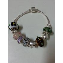 Pulseira Bracelete Estilo Pandora, Vivara, Berloques Miçanga