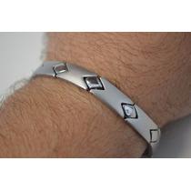 Bracelete Algema Masculino Aço Inox M10 C/ Frete Grátis!