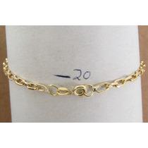 Oferta!7437 Pulseira 20 Cm Estilo Cartier De Ouro Y