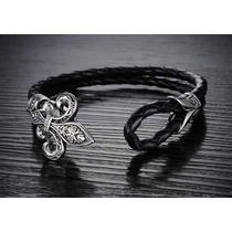 Pulseira Masculina Bracelete Couro Legítimo Ph911mk