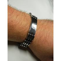 Bracelete Algema Masculino Aço Inox C/ Frete Grátis!