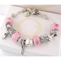 Pulseira Bracelete Pandora Murano Berloque Charm Pingente