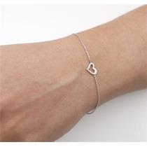 Linda Pulseira Coração Ouro 18 Quilate Mais Diamantes