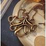 Colar Octopus, Gargantilha, Corrente, Retrô, Lindo!