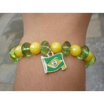 Pulseira Clotilde Bandeira Brasil Verde Amarela Copa