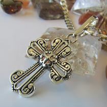 Pingente Crucifixo Filigrama Em Prata 950k Maciça Ojoalheiro