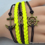 Bracelete Pulseira Unissex Nautica Barco Vela - Frete Grátis